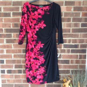 NWT Lauren Ralph Lauren long-sleeve dress, Sz 14